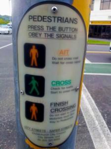 Semáforo en Nueva Zelanda