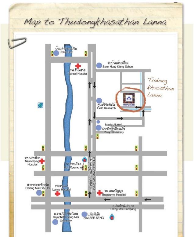 Mapa Fiesta Yeepeng Chiang Mai