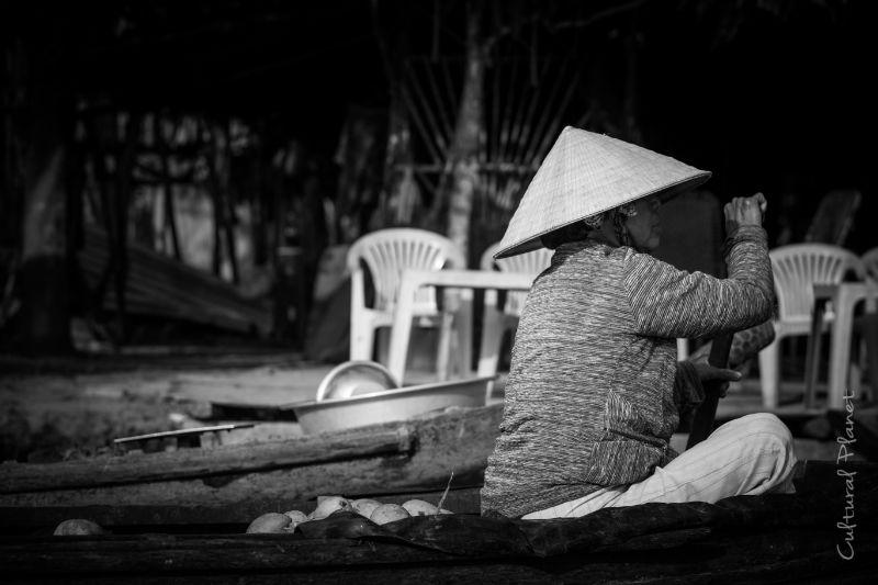Mercado flotante Mekong