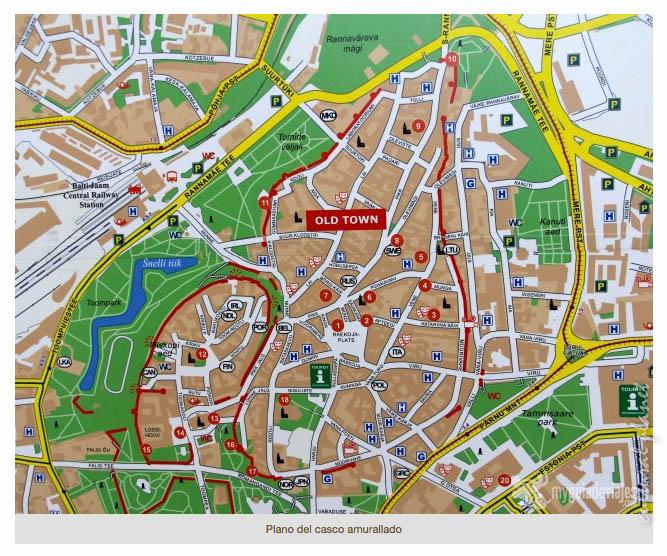 Mapa Tallin
